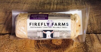 cheese, chevre, fig & orange 4oz log; Firefly Farms