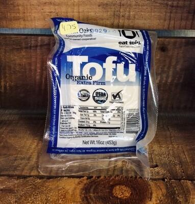 tofu, plain, extra firm, organic; each; Twin Oaks