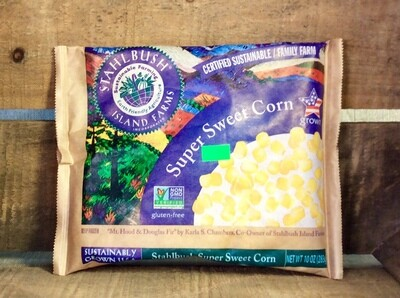 corn, sweet, frozen, 10oz;each; Stahlbush Farm