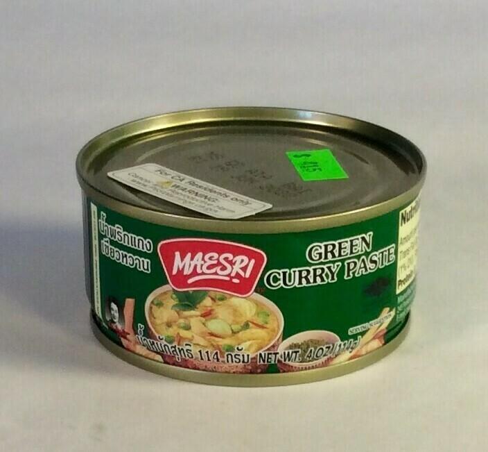 curry paste, green, 4 ounce; each; Maesri