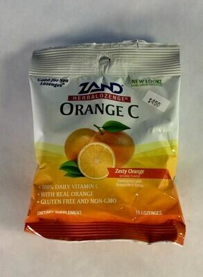lozenge, Vitamin C, orange, 15 count; Zand; each