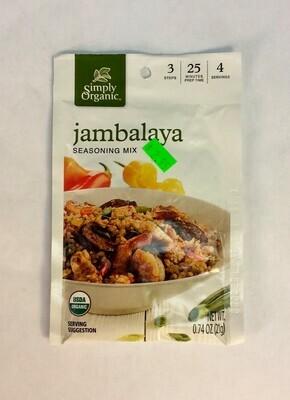 jambalaya mix, 0.74 oz; Simply Organic