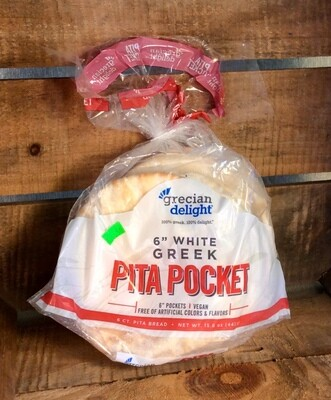 bread, pita, white; 6 count; Pocket Pita