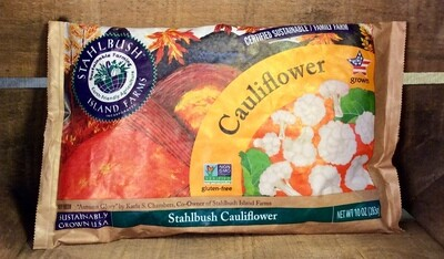 cauliflower, frozen, 10oz; Stahlbush Farm