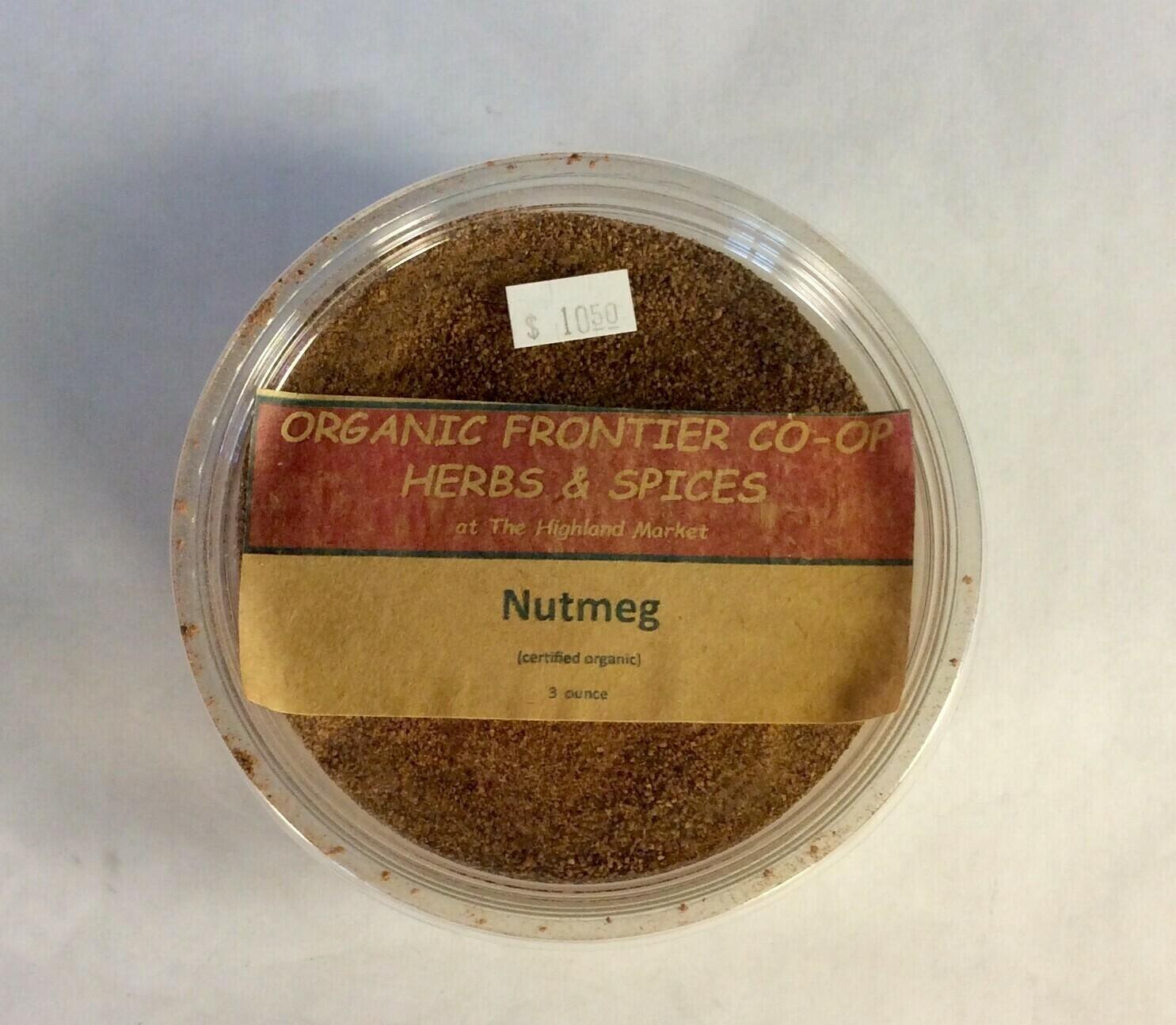 nutmeg, powdered, 3 oz; Frontier Organic