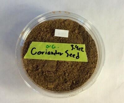 coriander powder, 3.4 oz; Frontier Organic; each