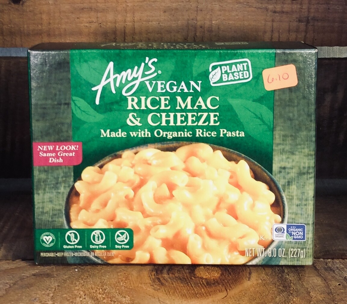 pasta, rice mac & cheese, gluten free, dairy free, 9 ounce; each; Amy's