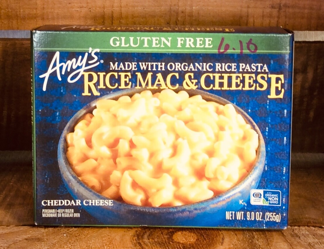 pasta, rice mac & cheese, gluten free, 9 ounce; each; Amy's