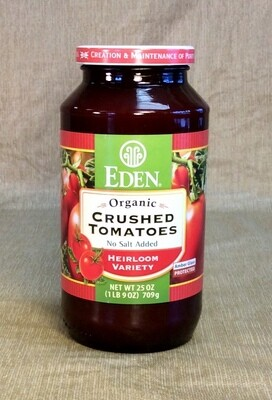 tomatoes, organic, crushed; 14 ounce; each; Eden