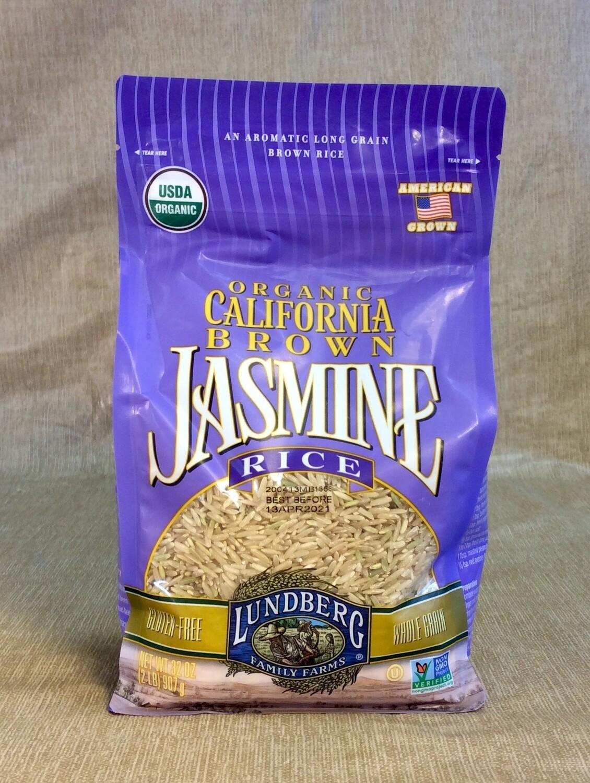 rice, jasmine brown, organic; 2 # bag; each; Lundberg