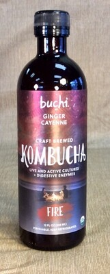 kombucha, fire, ginger and cayenne; 12oz; Buchi