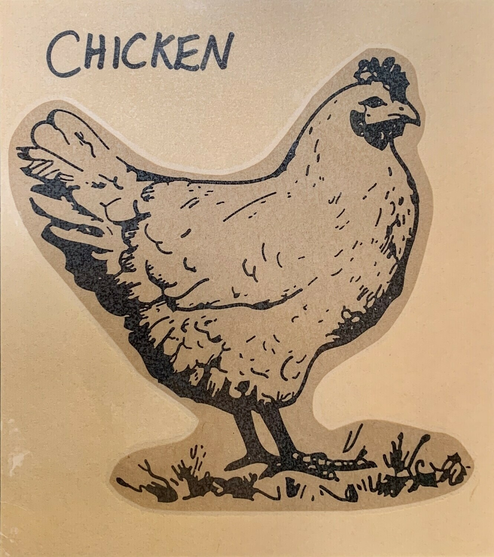 chicken, thighs; per pack; each; Charm Farm