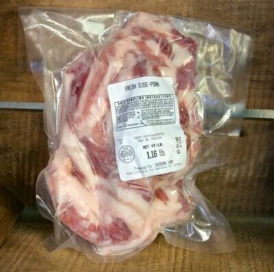 pork, side of; per pack; Backbone Farm