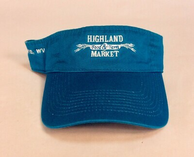 hat, visor; each; Highland Market