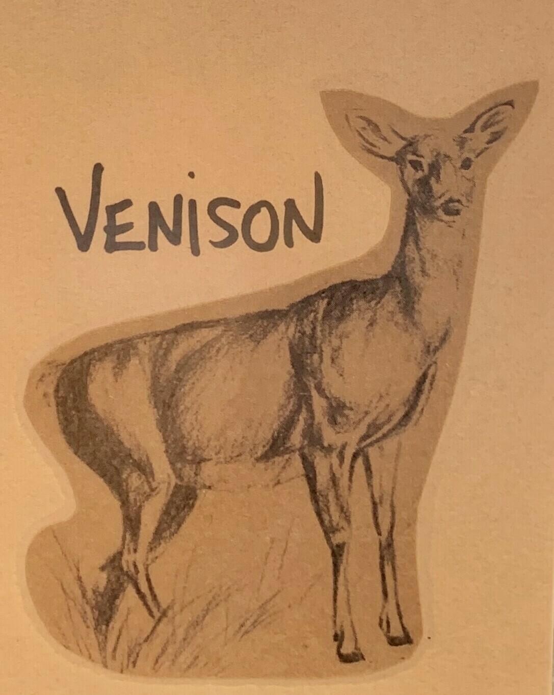 venison, ground, 1 pound pack; Shaffer Farm