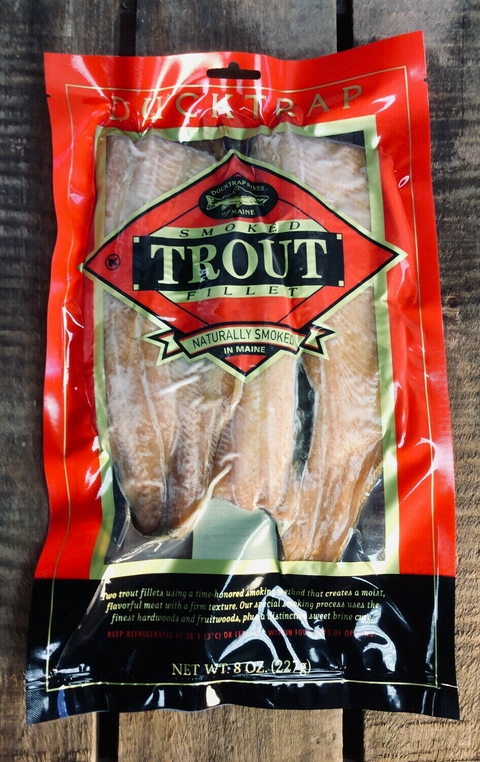 trout, smoked; 8oz pack;