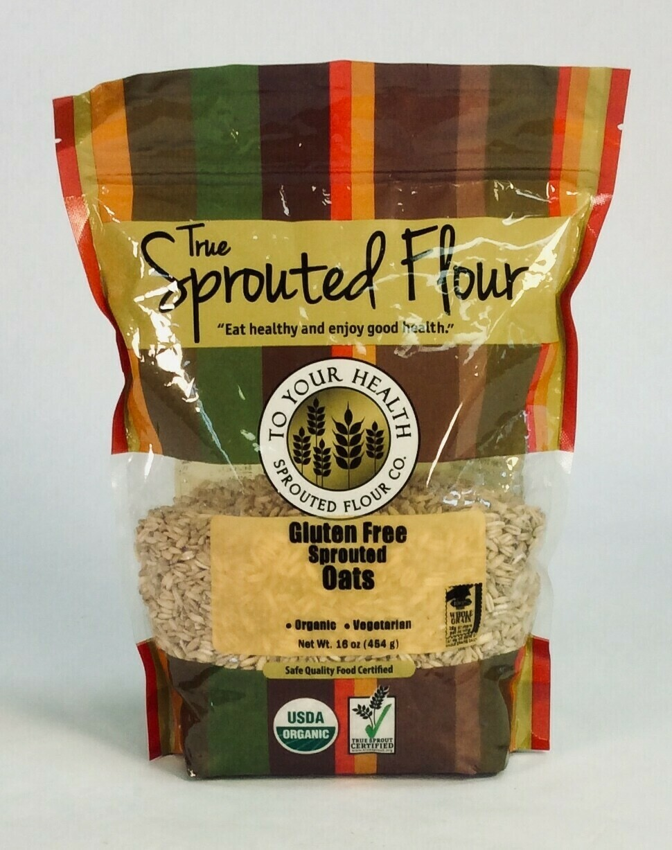 oats, rolled, sprouted, Gluten Free; 1 pound