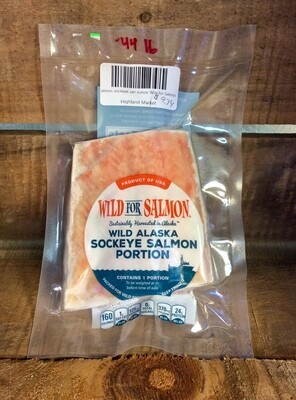 salmon, sockeye portions; per pack; Wild For Salmon