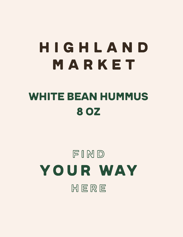 hummus, frozen, white bean; 8 oz; each; Real Food