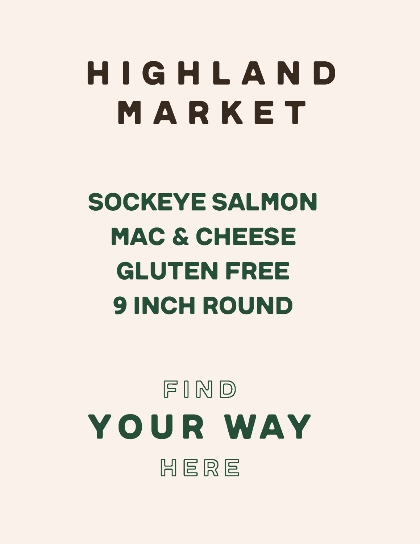 sockeye salmon mac & cheese, frozen, Gluten-free, family size; each; Real Foods