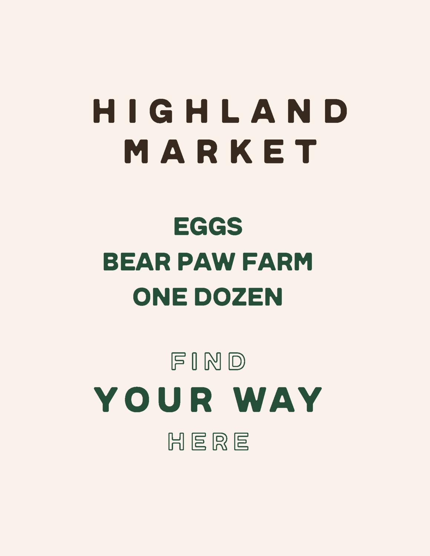 eggs, dozen; each; Bear Paw