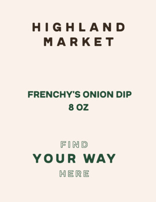 dip, frozen, frenchy's onion, 8 ounce; each; Real Food