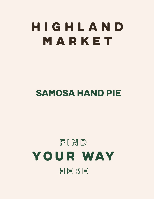 hand pie, frozen, samosa; each; Real Foods