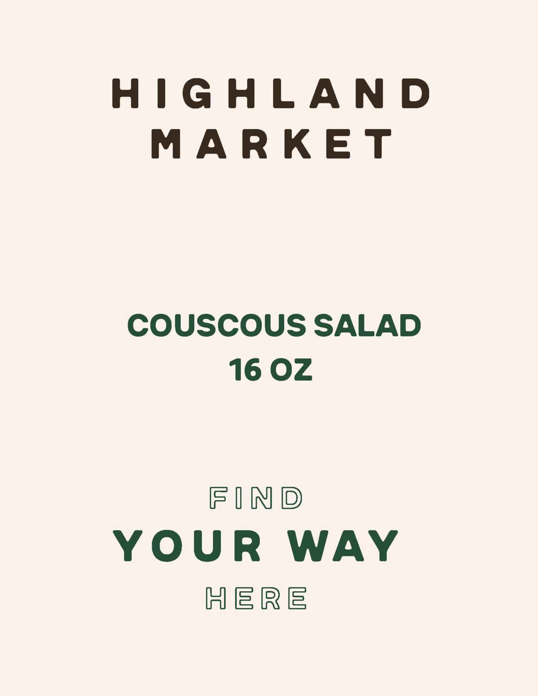 salad, frozen, couscous; 16oz; Real Foods