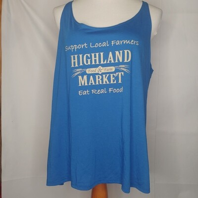 tank top, blue/tan; Highland Market