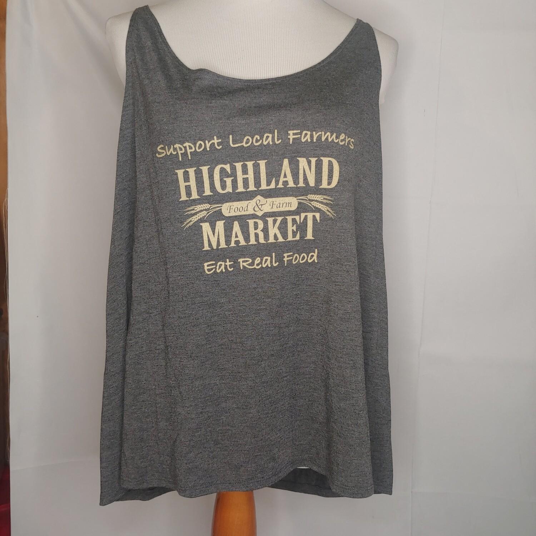 tank top, dark gray heather; Highland Market