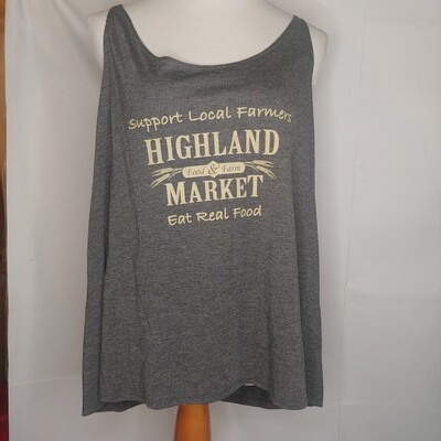 tank top, dark gray heather; Highland Market