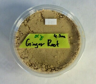 ginger, dried powder, organic; 4 oz; each; frontier