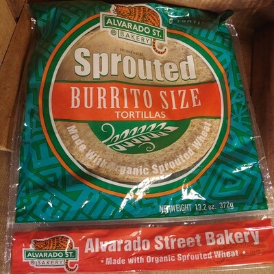 tortillas, sprouted whole wheat; 12 pack; each; Alvarado Street