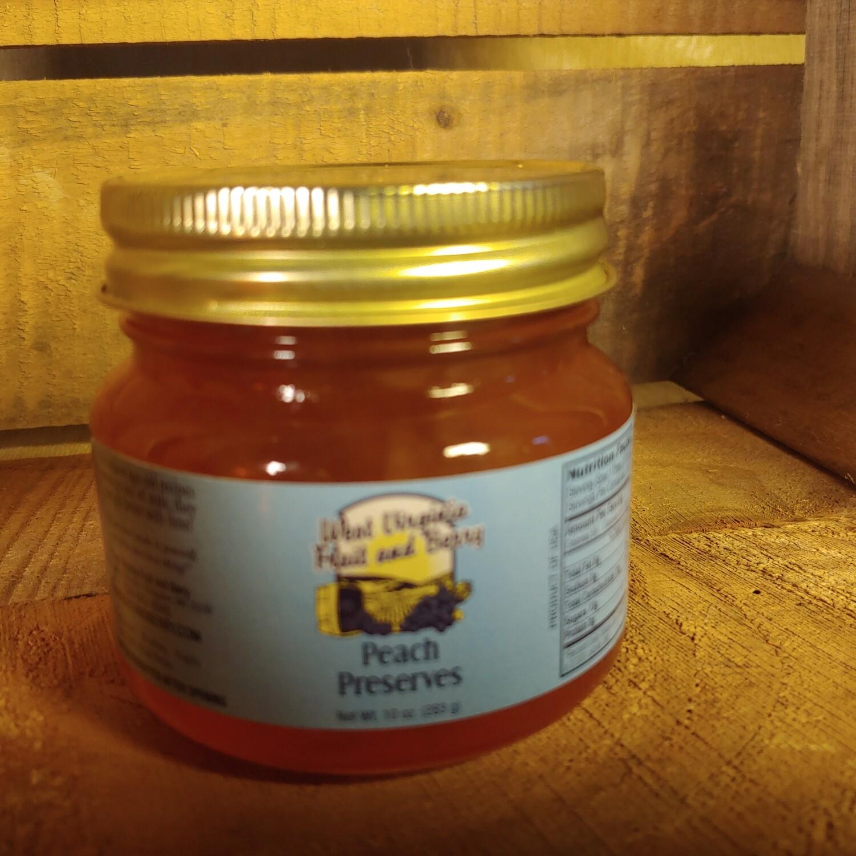 preserves, peach, 10 oz; each; WV Fruit & Berry