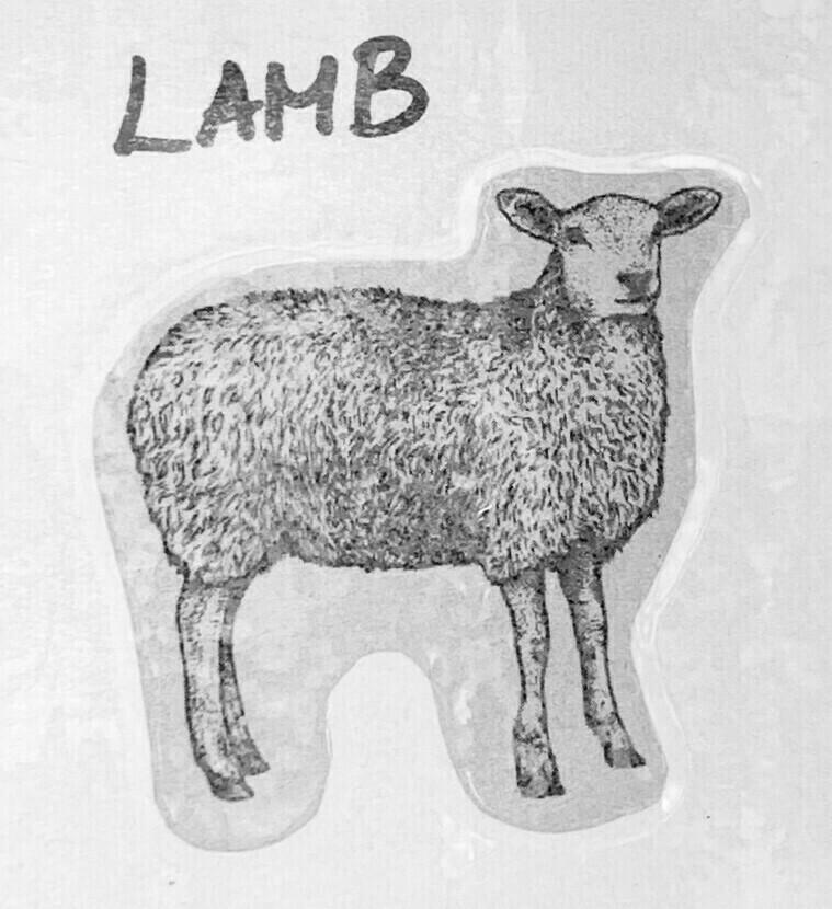 lamb, gyro/hoagie; per pack; Snowy Creek Dorsets
