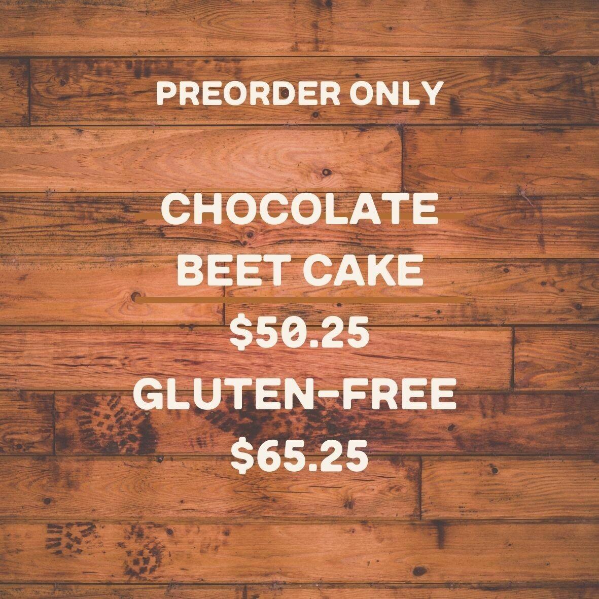 cake, chocolate beet; Highland Market
