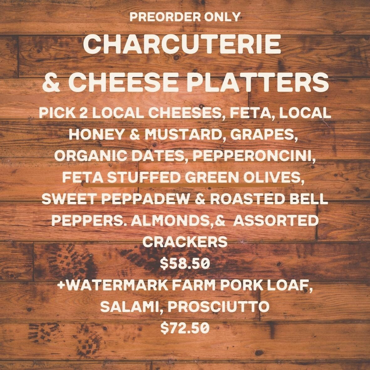 platter, cheese or meat; Highland Market