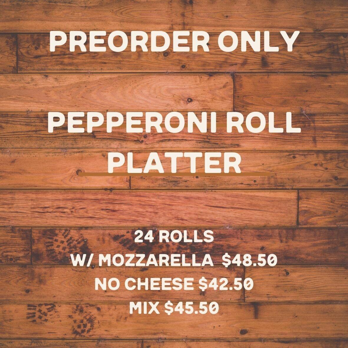 platter, pepperoni rolls; Highland Market