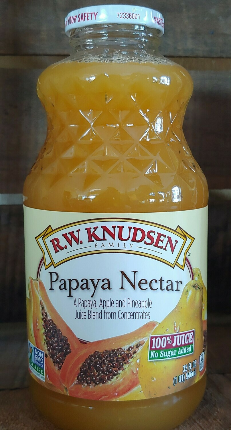 juice, papaya nectar; 32 oz; Knudsen