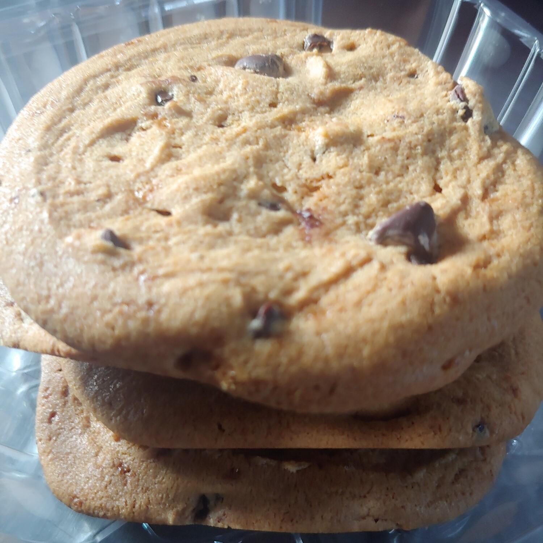 cookies, vegan chocolate chip, frozen; 4 pack