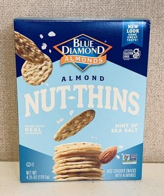 crackers, sea salt Nut Thins, low sodium, each; Blue Diamond