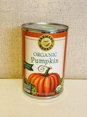 pumpkin, puree, organic; 15oz; Farmer's Market