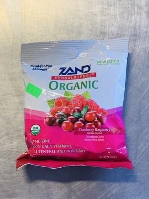 lozenge, cranberry raspberry; 12 ct; Zand