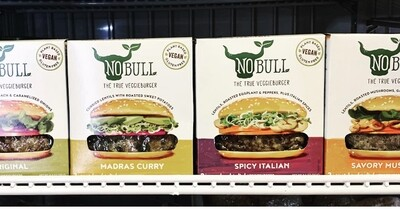 burger, spicy Italian, gluten-free, vegan; each; No Bull