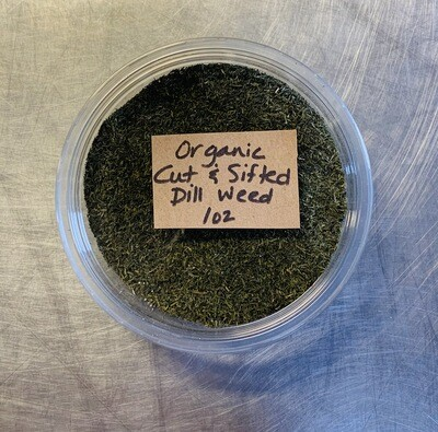 dill weed cut/sifted, organic; 1oz; Frontier