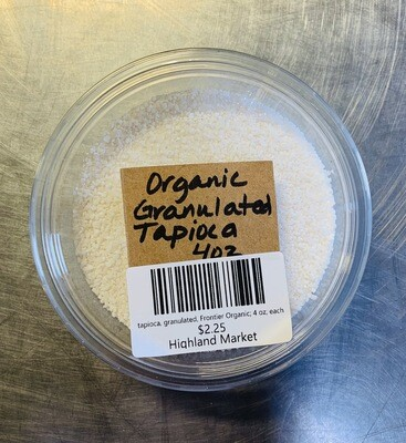 tapioca, granulated, Frontier Organic; 4 oz; each