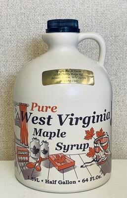 syrup, maple; 1/2 gallon; Maple Ridge Farm