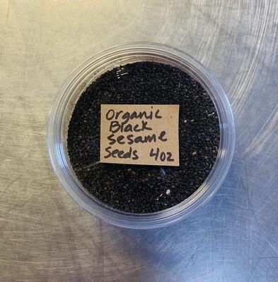 sesame seeds, black, organic; 4oz; Frontier