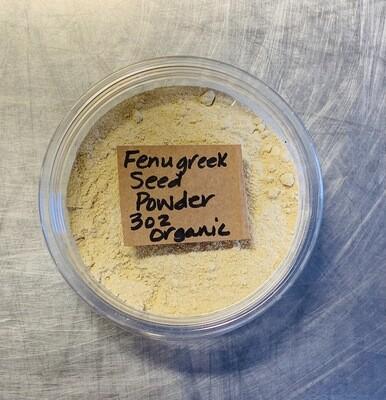 fenugreek seed, powder, organic; 3oz; Frontier