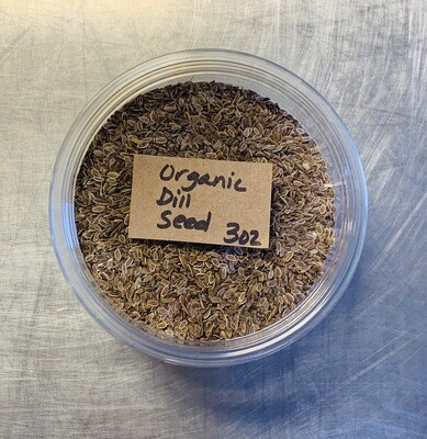 dill seed, organic; 3 oz; Frontier